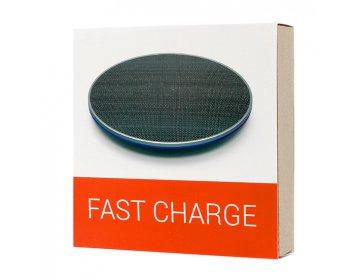 Ładowarka Indukcyjna bezprzewodowa QI uniwersalna Fast Charge FC02 czarny min.2A