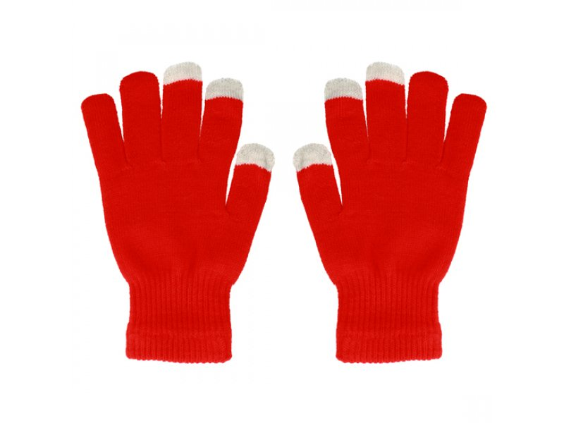 Rękawiczki EKRANÓW DOTYKOWYCH CZERWONE