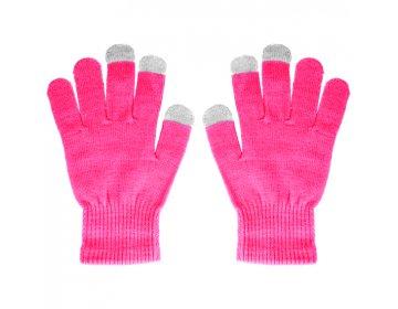 Rękawiczki EKRANÓW DOTYKOWYCH różOWE