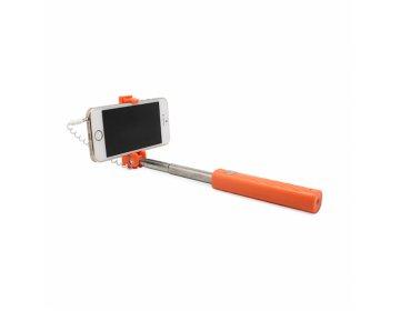 Remax Uchwyt selfie mini XT-P02 przewodowy jack 3,5mm Pomarańczowy