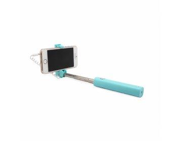 Remax Uchwyt selfie mini XT-P02 przewodowy jack 3,5mm zielony