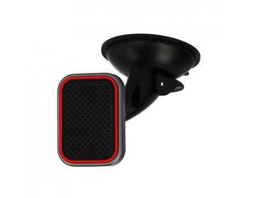 Uchwyt samochodowy TXR MAGNETYCZNY /2 mocowania: na szybę i kratkę/ z czerwoną ramką