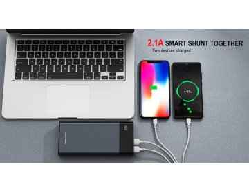 Remax power bank Renor 20000mAh RPP-131 2xUSB Szary