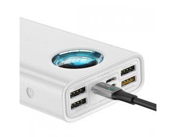 Baseus power bank 30000mAh 33W Cyfrowy Wyświetlacz PD3.0+QC3.0 PPLG-02 Biały