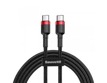 Baseus Kabel Cafule USB Typ C na USB Typ C PD 2.0 60W 3A QC 3.0 2 metry CATKLF-H91 czerwono-czarny