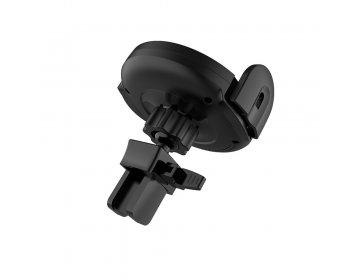 Hoco Uchwyt Samochodowy > CA35 Plus automatycznie zamykany z ładowaniem indukcyjnym, mocowaniem na kratkę i przyssawką czarny