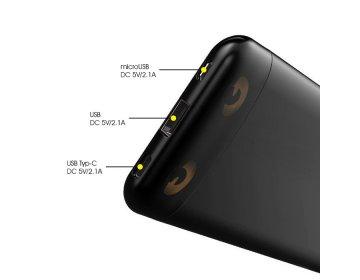 Awei power bank P68K USB+Typ C szybkie ładowanie 10000mAh żółty