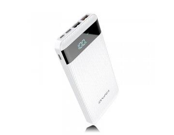 Awei power bank P63K 2xUSB szybkie ładowanie 10000mAh biały