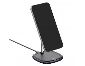 Baseus Uchwyt Magnetyczny Swan z ładowaniem indukcyjnym 15W do iPhone 12 WXSW-01 czarny