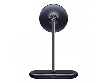 Baseus Uchwyt Magnetyczny Swan 2 w 1 z ładowaniem indukcyjnym 20W do iPhone 12 + ładowarka sieciowa 24W WXSW-C01 czarny