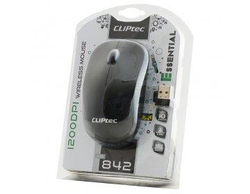 Cliptec Mysz komputerowa Essential RZS842 bezprzewodowa optyczna 1200DPI czarna