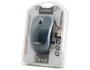 Cliptec Mysz komputerowa Essential RZS842 bezprzewodowa optyczna 1200DPI szara