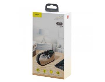 Baseus Głośnik Bezprzewodowy bluetooth Encok E09 z zegarkiem i budzikiem NGE09-01 czarny
